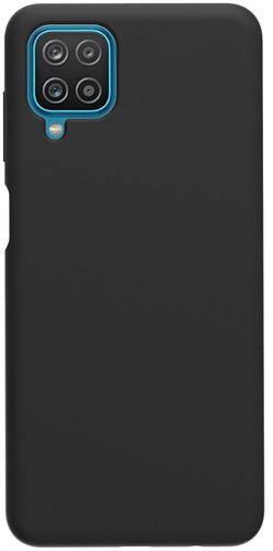Azuri Samsung Galaxy A12 Back Cover Siliconen Zwart Main Image