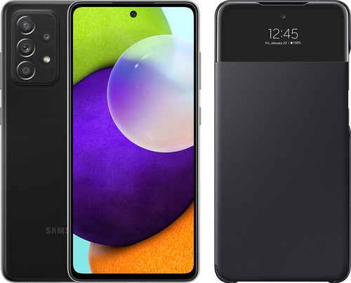 Samsung Galaxy A52 128GB Black 4G + Samsung Smart S View Wallet Cover Black Main Image