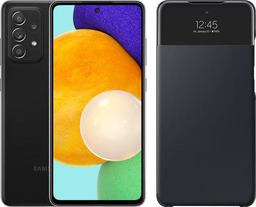 Samsung Galaxy A52 128GB Black 5G + Samsung Smart S View Wallet Cover Black Main Image