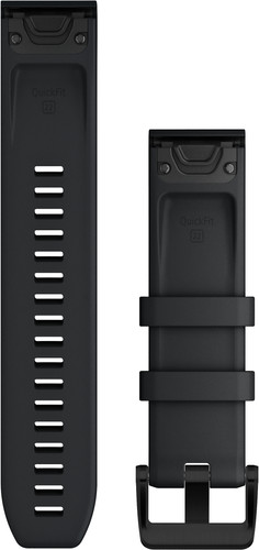 Garmin Siliconen Bandje Zwart/Zwart 22mm back