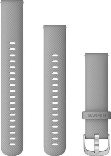 Garmin Siliconen Bandje Grijs/Zilver 18mm Main Image