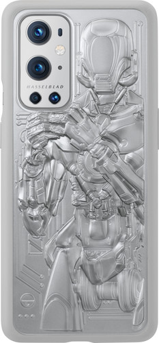 OnePlus 9 Pro Unique Back Cover Zilver Main Image