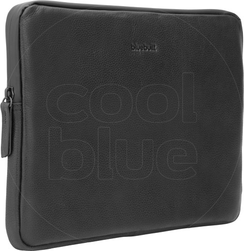 BlueBuilt Laptophoes Leer Zwart / Voor 13 inch Apple MacBook Air/Pro Main Image
