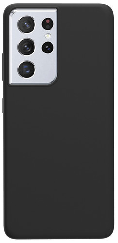 Azuri Samsung Galaxy S21 Ultra Back Cover Siliconen Zwart Main Image