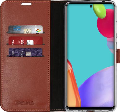 Valenta Gel Skin Samsung Galaxy A52 Book Case Bruin Main Image