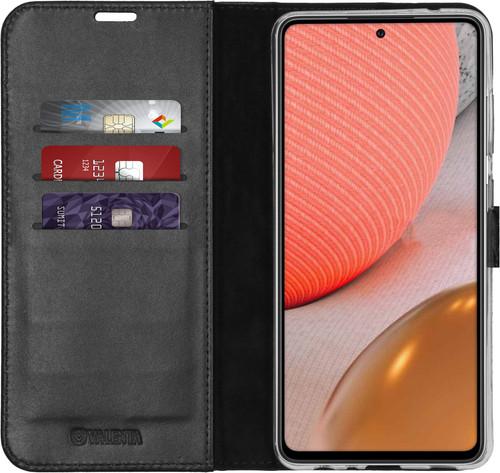 Valenta Gel Skin Samsung Galaxy A72 Book Case Zwart Main Image