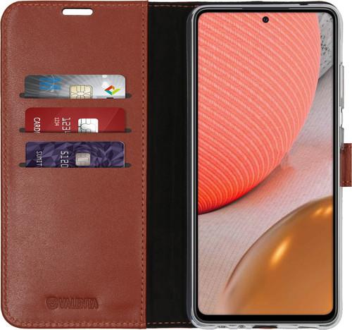 Valenta Gel Skin Samsung Galaxy A72 Book Case Bruin Main Image