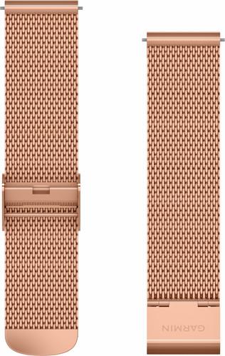 Garmin Milanese Strap Rose Gold 20mm Main Image