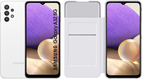 Samsung Galaxy A32 5G 128GB White + Samsung Galaxy A32 Smart S View Book Case White Main Image