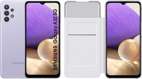 Samsung Galaxy A32 5G 128GB Purple + Samsung Galaxy A32 Smart S View Book Case White Main Image