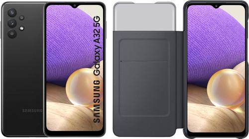 Samsung Galaxy A32 5G 128GB Black + Samsung Galaxy A32 Smart S View Book Case Black Main Image