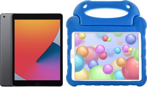 Apple iPad (2020) 128 GB Wifi Space Gray + Kinderhoes Blauw Main Image