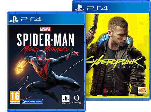 Marvel's Spider-Man Miles Morales PS4 + Cyberpunk 2077: Day One Edition PS4 & PS5 Main Image