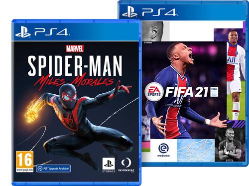 Marvel's Spider-Man Miles Morales PS4 + FIFA 21 PS4 & PS5 Main Image