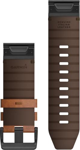 Garmin Fenix 6X Leren Bandje Bruin 26mm back