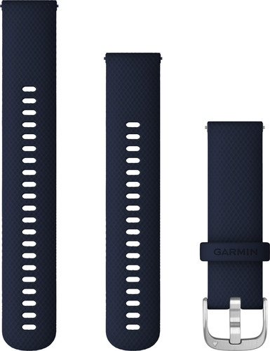 Garmin Siliconen Bandje Blauw/Zilver 22mm Main Image