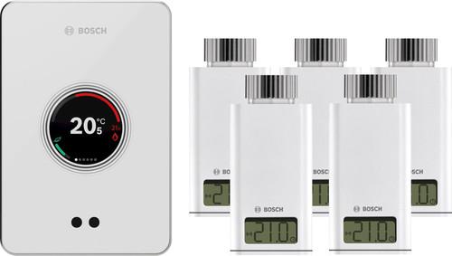 Bosch EasyControl CT200 wit + 5x Bosch EasyControl Smart Radiator Thermostat RT10-RF Main Image