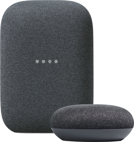 Google Nest Audio Charcoal + Nest Mini Charcoal Main Image
