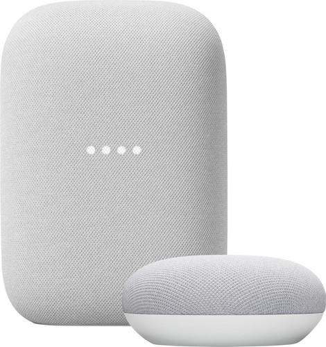Google Nest Audio Chalk + Nest Mini Chalk Main Image
