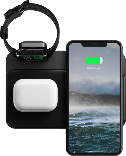 Nomad Base Station 3 In 1 Draadloze Oplader 10w Met Apple Watch Stand Coolblue Voor 23 59u Morgen In Huis