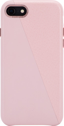 Decoded Dual Apple iPhone SE 2 Back Cover Leer Roze Main Image