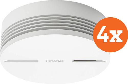Netatmo Smart Smoke Detector (10 years) 4-Pack Main Image