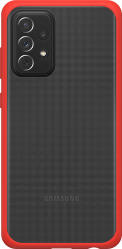 Otterbox React Samsung Galaxy A72 Back Cover Transparant met Rode Rand Main Image
