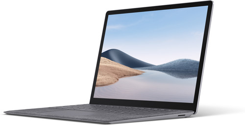 "Microsoft Surface Laptop 4 13.5"" i5 - 8GB - 512GB Platinum voorkant"