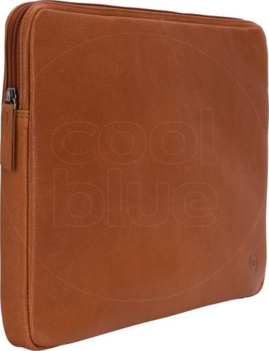 BlueBuilt 15-inch Laptop Cover Width 35 - 36cm Leather Cognac Main Image