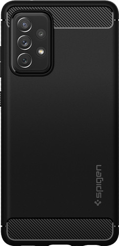Spigen Rugged Armor Samsung Galaxy A72 Back Cover Zwart Main Image