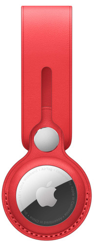 Apple AirTag Leather Loop Red Main Image