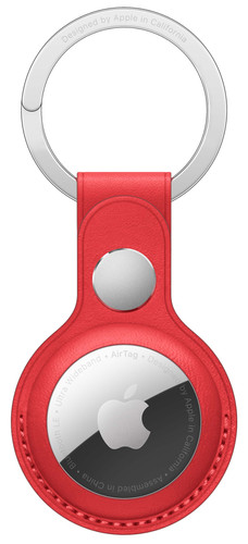 Apple AirTag Leather Key Ring Red Main Image