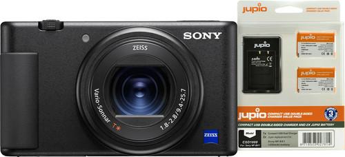 Sony ZV-1 Vlog + Jupio NP BX1 Battery Kit Main Image