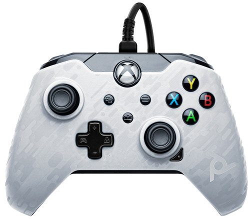 PDP Wired Controller Xbox Series X and Xbox One White Camo Main Image
