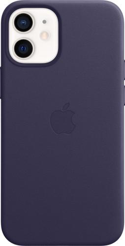 Apple iPhone 12 mini Back Cover met MagSafe Leer Donkerviolet Main Image
