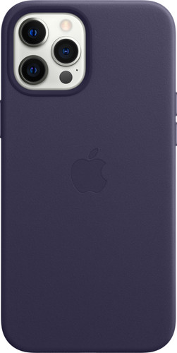 Apple iPhone 12 Pro Max Back Cover met MagSafe Leer Donkerviolet Main Image