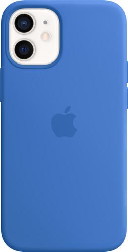 Apple iPhone 12 mini Silicone Back Cover met MagSafe Capri Blauw Main Image