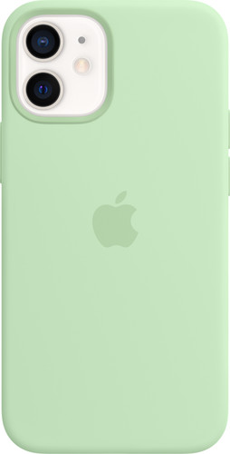Apple iPhone 12 mini Silicone Back Cover met MagSafe Pistachegroen Main Image
