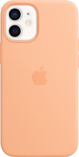 Apple iPhone 12 mini Silicone Back Cover met MagSafe Cantaloupe Main Image