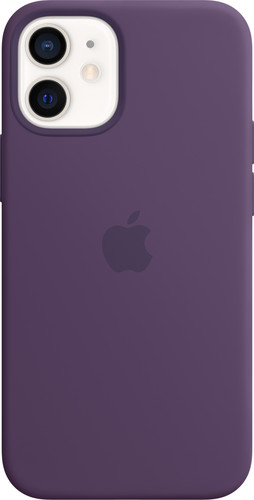 Apple iPhone 12 mini Silicone Back Cover met MagSafe Amethist Main Image