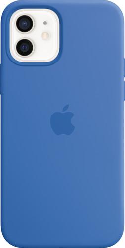 Apple iPhone 12 / 12 Pro Silicone Back Cover met MagSafe Capri Blauw Main Image