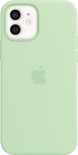 Apple iPhone 12 / 12 Pro Silicone Back Cover met MagSafe Pistachegroen Main Image