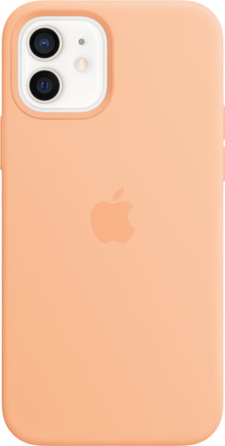 Apple iPhone 12 / 12 Pro Silicone Back Cover met MagSafe Cantaloupe Main Image