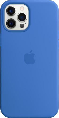 Apple iPhone 12 Pro Max Silicone Back Cover met MagSafe Capri Blauw Main Image