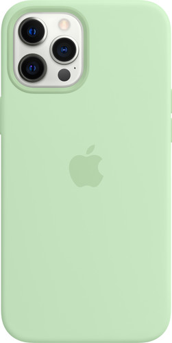 Apple iPhone 12 Pro Max Silicone Back Cover met MagSafe Pistachegroen Main Image