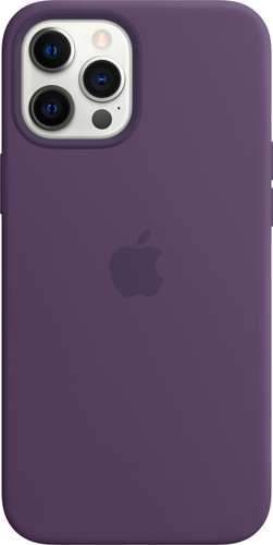 Apple iPhone 12 Pro Max Silicone Back Cover met MagSafe Amethist Main Image