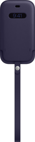 Apple iPhone 12 mini Leren Sleeve with MagSafe Donkerviolet Main Image