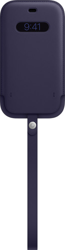 Apple iPhone 12 / 12 Pro Leren Sleeve with MagSafe Donkerviolet Main Image