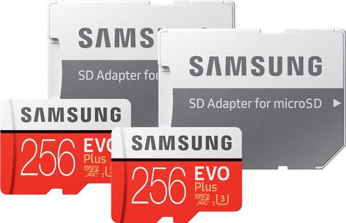 Samsung microSDXC EVO Plus 256GB + SD Adapter Duo Pack Main Image