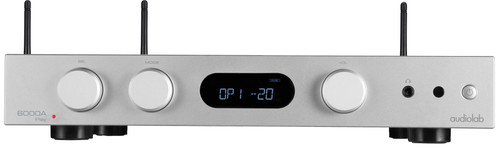 Audiolab 6000A Play Versterker + Streamer Zilver Main Image